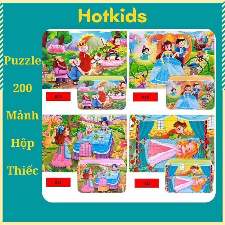 Đồ chơi xếp hình 200 mảnh hộp thiếc/ Đồ chơi phát triển trí tuệ dành cho trẻ/ Xếp hình gỗ/Puzzle