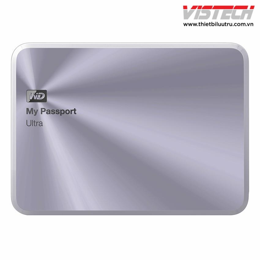 Ổ cứng di động WD My Passport Ultra Metal Edition 1TB (Bạc)