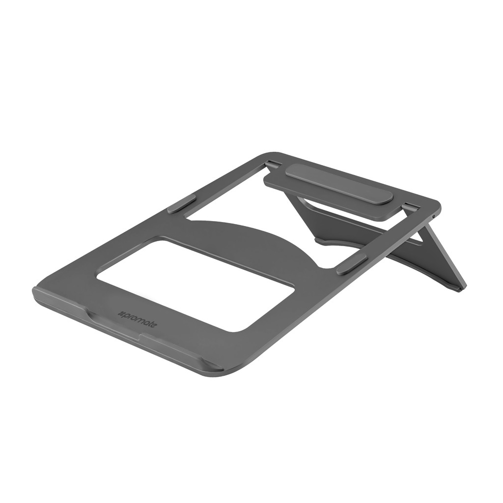 Giá đỡ Laptop Promate DeskMate-3 Aluminium (Xám)