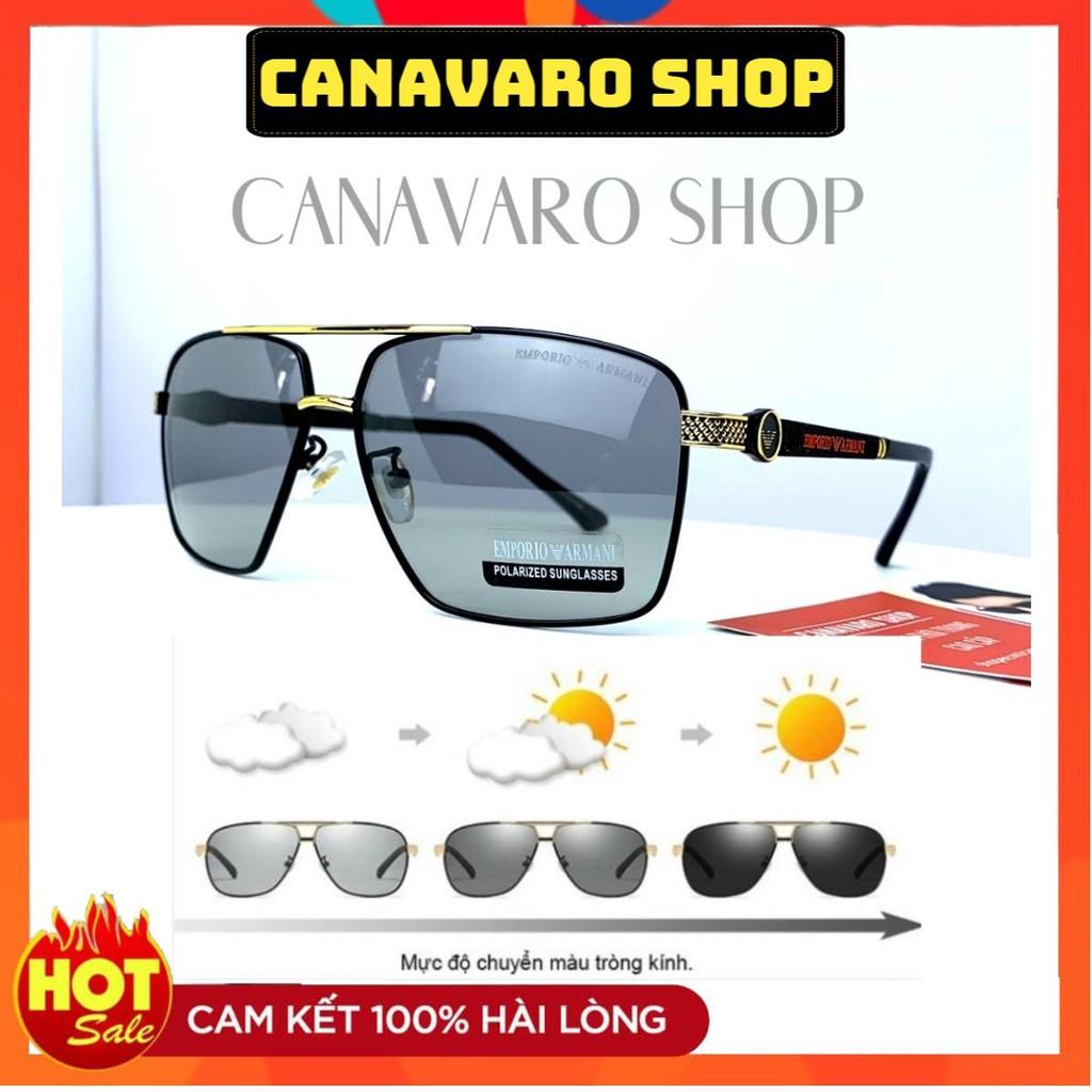 Kính Đổi Màu Nam Nữ Hàng Hiệu Cao Cấp Đi Ngày Và Đêm Phân Cực Chống Chói Lóa, Chống UV CANAVARO SHOP CN070