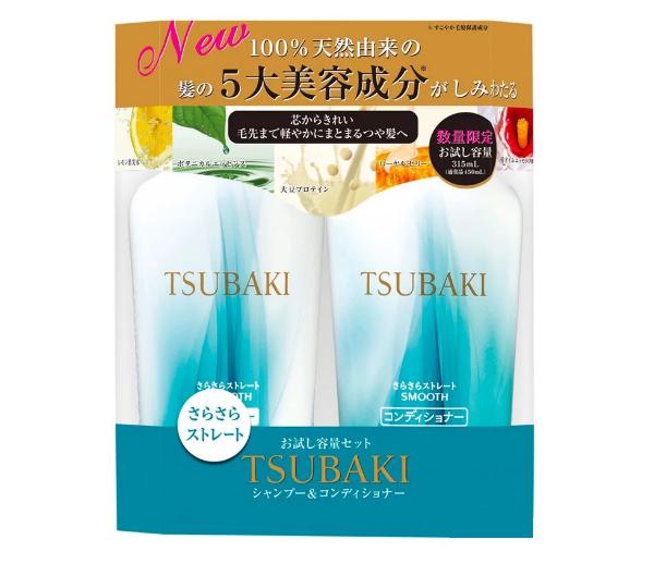Bộ đôi gội xả suôn mượt mềm mại Tsubaki Botanical (450ml/chai)
