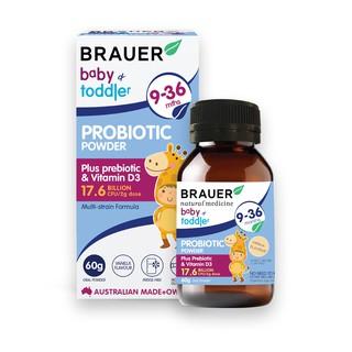 Thực phẩm bảo vệ sức khỏe Brauer Baby Toddler Probiotic 60g