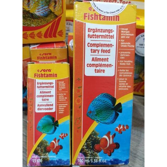 Sera Fishtamin 15ml - Vitamin tổng hợp cho cá cảnh.