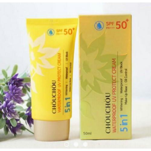 KEM CHỐNG NẮNG CHOU CHOU WATERPROOF UV PROTECT CREAM SPF50+ PA+++