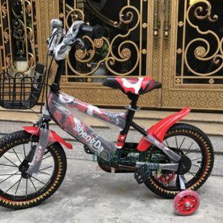 Xe đạp shengda size 12. 14 xanh đen- đỏ đen