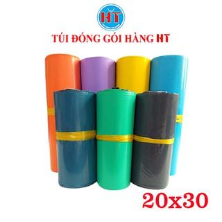 Túi đóng hàng, túi gói hàng niêm phong tự dính HT kích thước 20x30cm, cuộn 100 túi