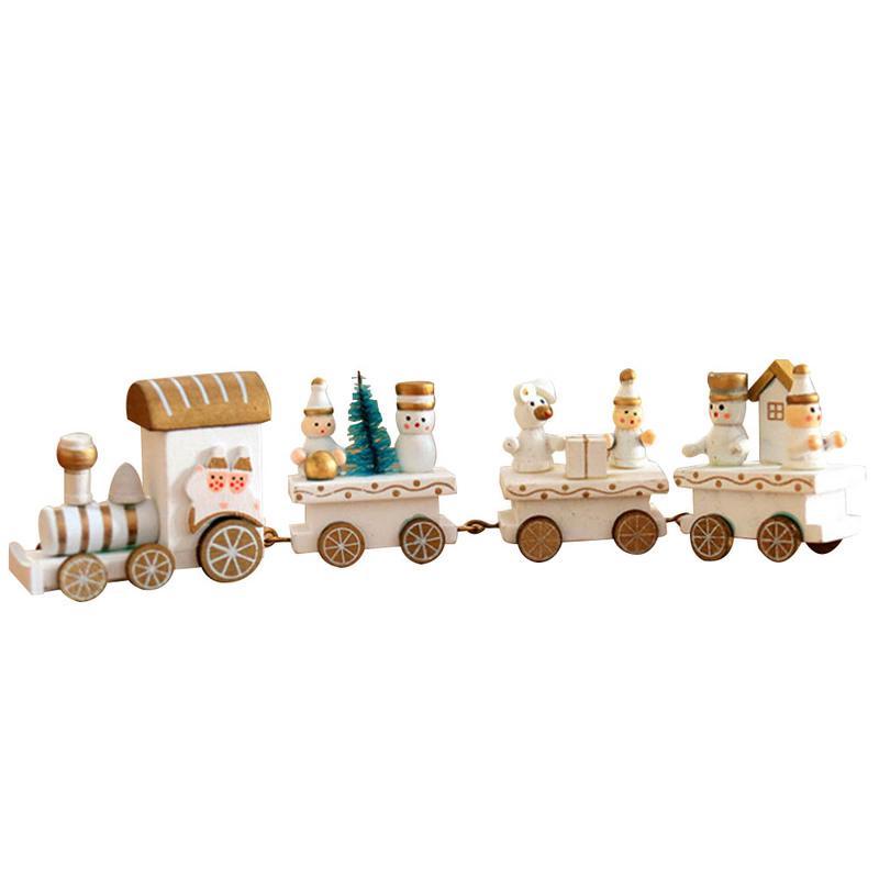 Christmas Wooden Toy Train Model Kids Kindergarten Gift