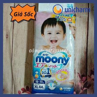 [HÀNG CAO CẤP SALE]Bỉm Tã Dán Cao Cấp Moony size XL44 miếng Siêu Thấm Hút (cho bé 11-17kg) thumbnail