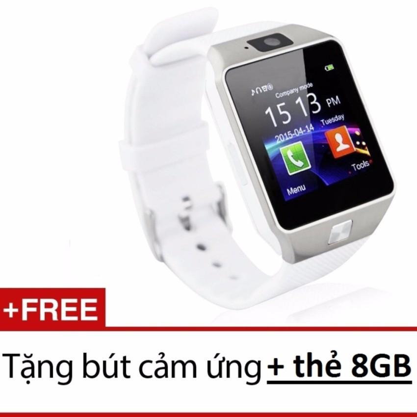 Đồng hồ thông minh có khe sim Smart Watch NS58 kèm Thẻ nhớ 8GB trắng