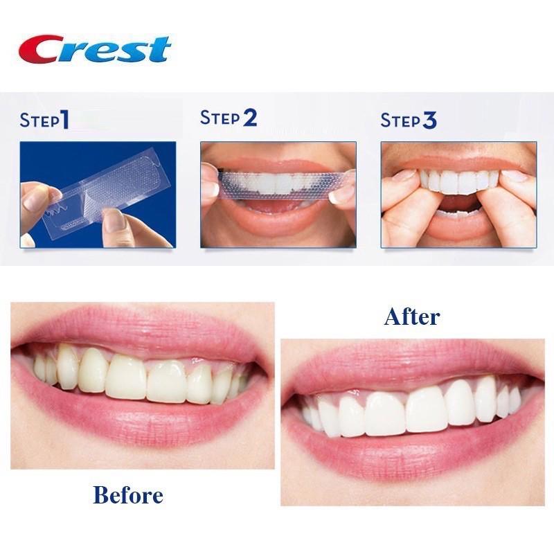 [HÀNG MỸ] - Miếng dán trắng răng Crest 3D White (1 miếng)