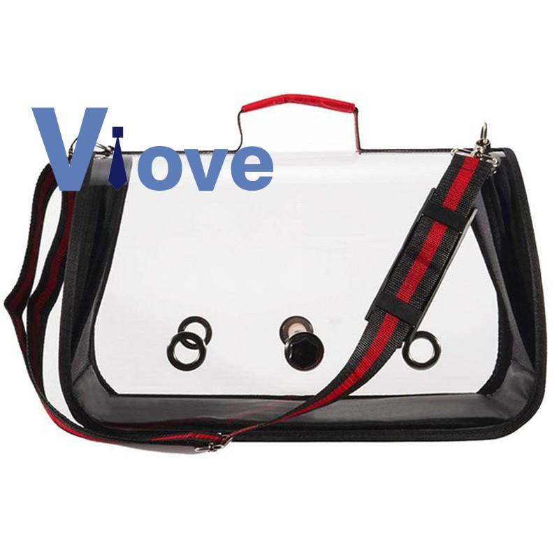 Travel Accessories Pvc Transparent Breathable Parrot Handbag