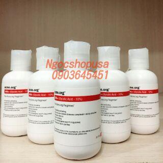 Serum giảm thâm, sẹo mụn Acne.org 10% Glycolic acid AHA 97ml