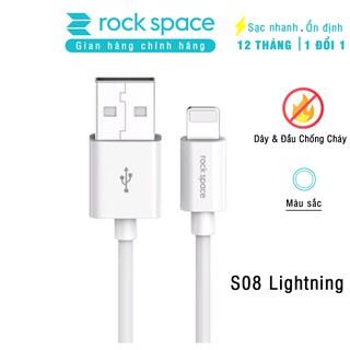 Dây cáp sạc cho iphone rock space Lightning S08 độ dài 1m