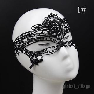 global_village Eye Mask Sexy Lace Venetian Masquerade Ball Halloween Party Fancy Dress Costume thumbnail