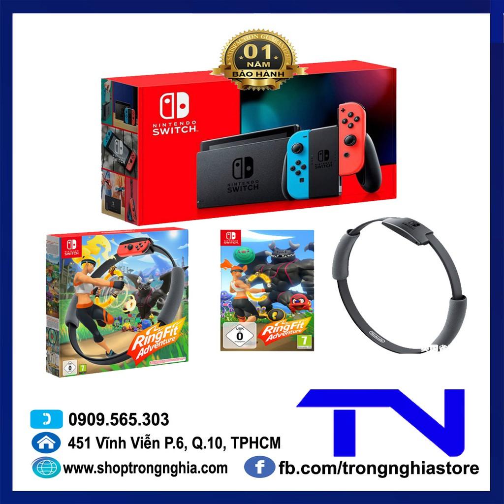 Máy Nintendo Switch V2 + Bộ game Ring fit Adventure - Bảo hành 12 tháng & Tặng dán cường lực
