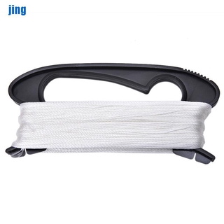 [jing] Outdoor Sports 100m White Flying Kite String Line w/ D Shape Winder Board Tools [vn]
