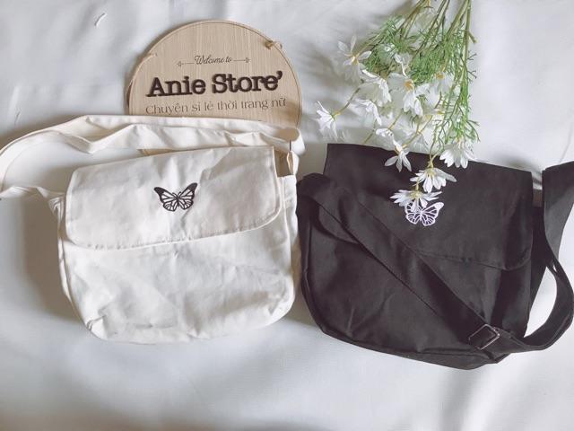 Túi Tote ButterFly 🦋 Túi Vải Họa Tiết Bướm Unisex 2 Màu 🦋