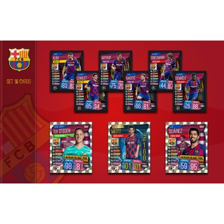Set 16 Thẻ In Match Attax 2019-20 Poca FC Barcelona + 1 Mini Album Custom