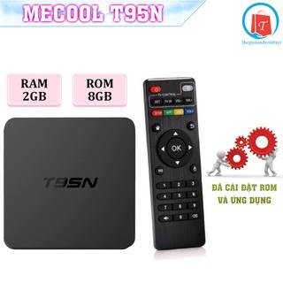 Android Tivi Box Mecool T95N Ram 2GB - Rom 8GB, Hệ Điều Hanh Android 7.1 - Bảo Hành 1 Năm