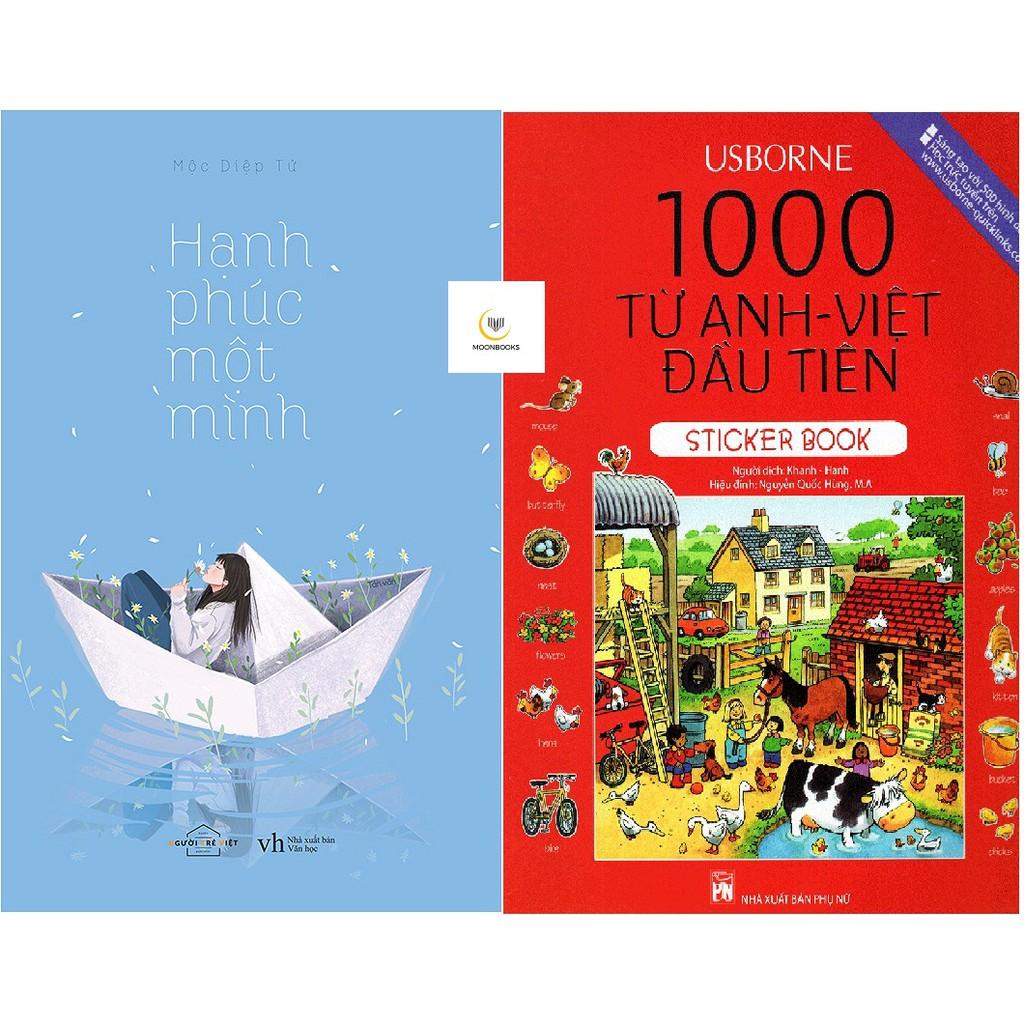 Combo Sách Hạnh Phúc Một Mình, 1000 Từ Anh - Việt Đầu Tiên