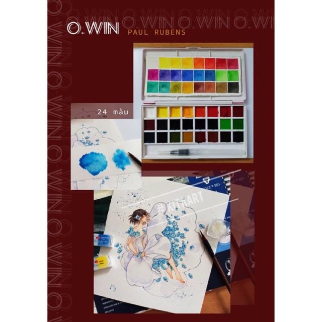 Mua [Kèm Cọ Nước] Màu Nước Nén Owin 24 Màu Hãng Paul Rubens