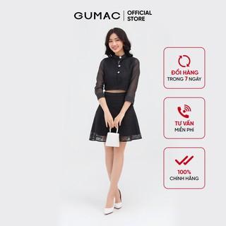 Chân váy nữ dáng xòe GUMAC ren phối tơ quyến rũ VB884