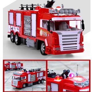 Xe cứu hỏa đồ chơi điều khiển từ xa sử dụng pin sạc phun được nước có âm thanh và đèn