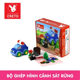 Bộ đồ chơi Xếp Hình CRETO - Cảnh Sát Rừng thumbnail