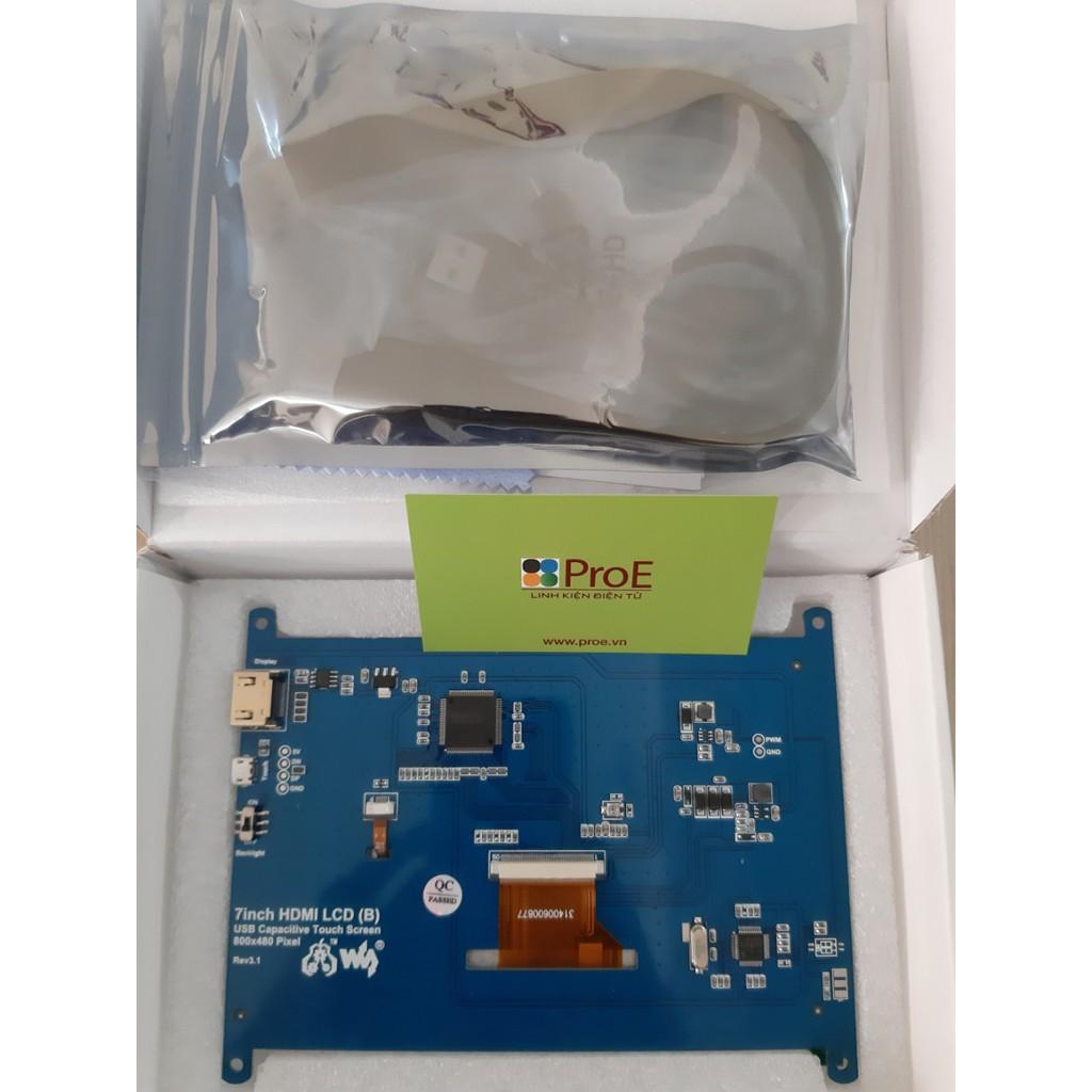 Màn hình cảm ứng điện dung 7inch HDMI LCD (B), 800×480, chính hãng Waveshare