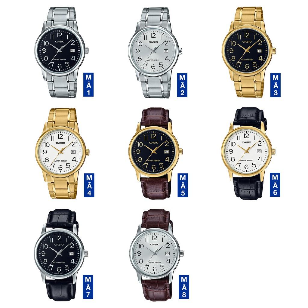 Đồng hồ nam dây da Casio Standard chính hãng Anh Khuê MTP-V002 Series