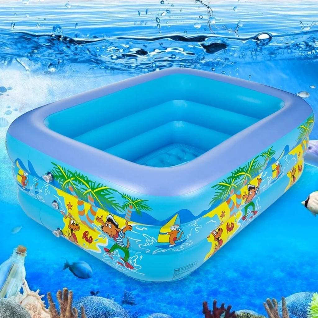 Bể Bơi Hồ Bơi Hơi Cho Bé 3 Tầng Đủ Kích Cỡ ( Tặng Kèm Bơm Điện)