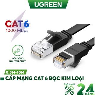 Cáp mạng Cat6 UTP 24AWG đầu bọc kim loại UGREEN NW101