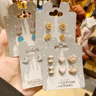 Shanghai Disney Star Dai Lulu stud doll female top DUFFY Sydney rose jewelry rabbit jewelry female rabbit earrings