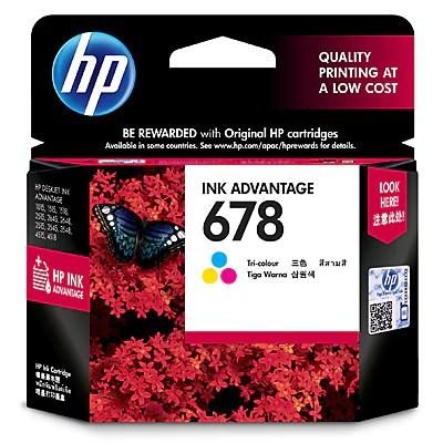 Mực In Phun HP 678 Tri-color Original Ink Advantage Cartridge (CZ108AA) – Hàng chính hãng Giá chỉ 219.000₫