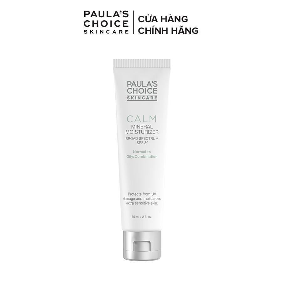 Kem chống nắng cho da nhạy cảm Paula's Choice Calm Mineral Moisturizer SPF 30 - Oily Skin 9170