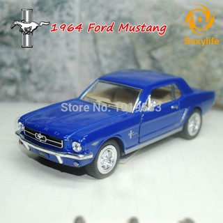 SL♣ 1/36 Scale 1964 Ford Mustang Diecast Metal Pull Back Car Model Toy For Collection Kids Gift Deco