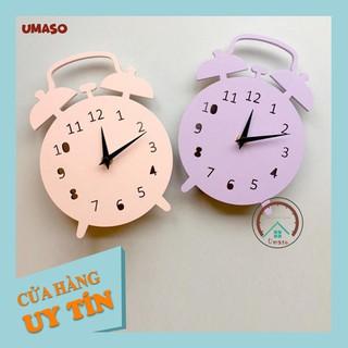 Đồng hồ treo tường trang trí cute hình chuông báo thức UMASO [Tặng kèm móc treo và pin] thumbnail