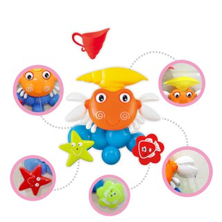 Baby Kid Bath Toy Set Big Crab Spray Windmill Water Padding Toy