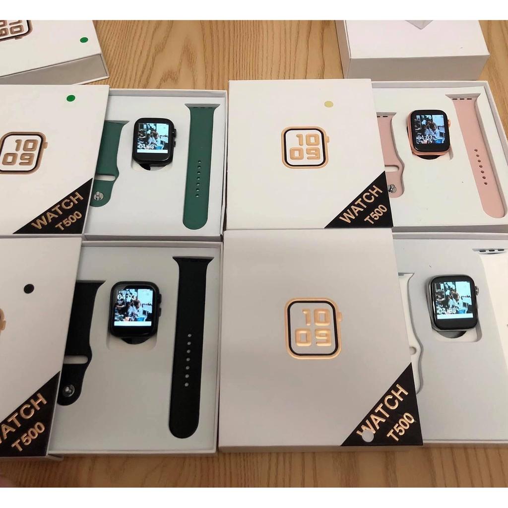 💥ĐỔI ĐƯỢC HÌNH NỀN💥 Đồng Hồ T500 Seri 5 Thế hệ mới Smart Watch, đồng hồ thông minh t500 chống nước💥BẢO HÀNH 1 NĂM💥p
