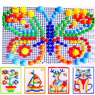 ★Children Puzzle Peg Board With 296 Pegs For Kids Early Educational Toys DIY