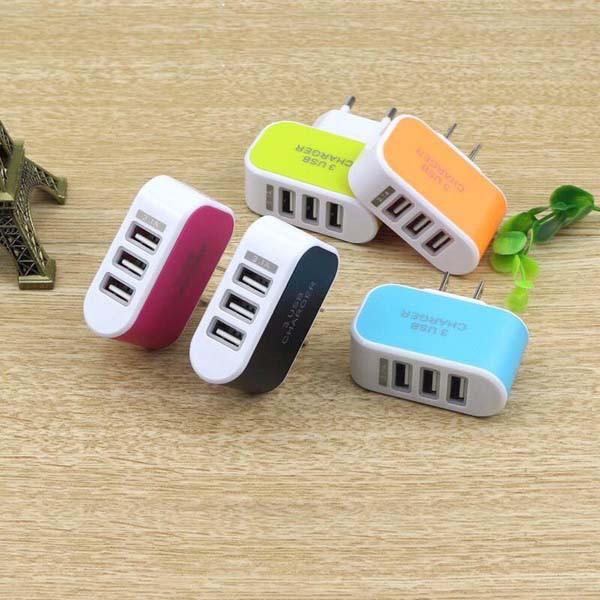 Củ sạc điện thoại 3 cổng USB tiện lợi
