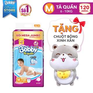 [Tặng chuột bông] Tã quần Bobby Mega Jumbo M120/L111/XL102/XXL93