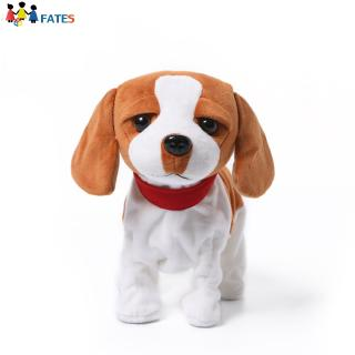 Kids Electric Walking Dog Cute Plush Puppy with Music Barking Function Recognition Educational Toy