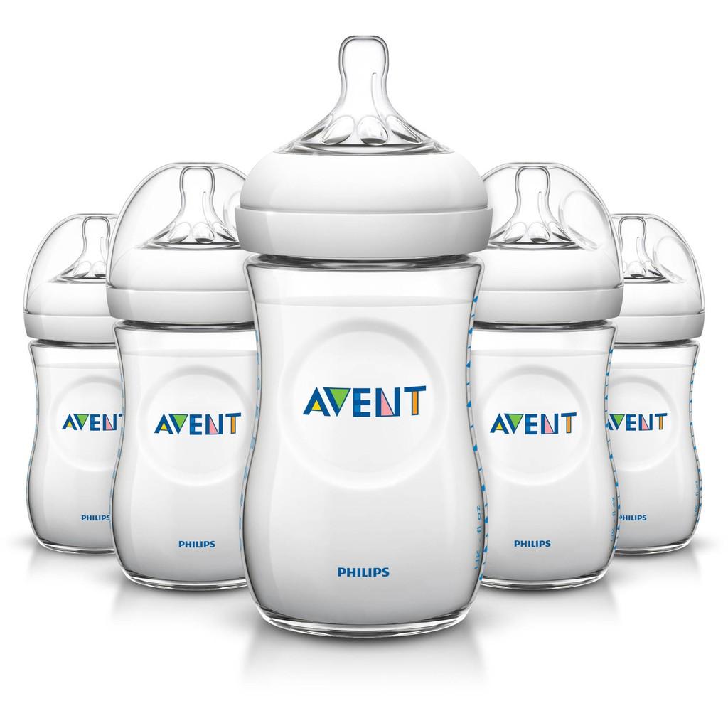 Bình sữa Avent Natural 260ml màu trắng
