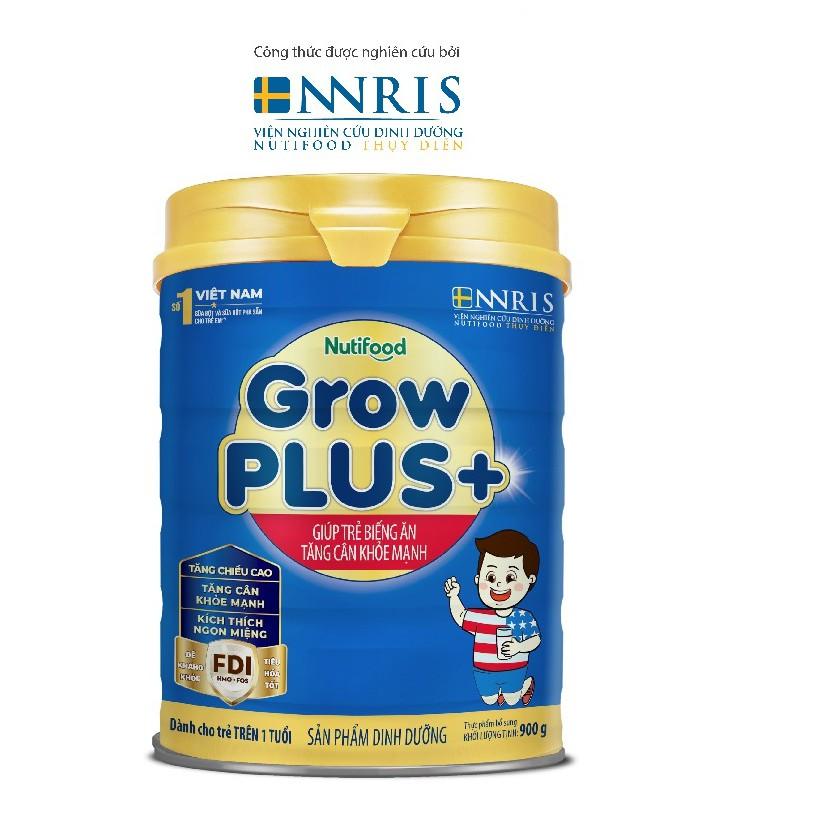 Sữa Bột GrowPLUS+ giúp bé biếng ăn tăng cân mạnh khỏe (Xanh) 900g