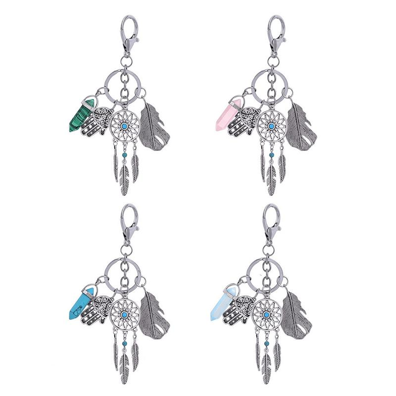 Fashion Metal Dream Catcher Pendant Car Key Chain Key Holder Key Ring Keyring