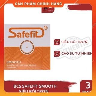 Bao cao su Siêu mỏng, Nhiều gel bôi trơn SafeFit Smooth Hộp 3 cái C thumbnail