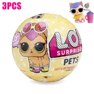 3 Pcs 10cm Surprise Ball Doll LOL Collector Collect Edition 2 Layer Shrink Film Gift