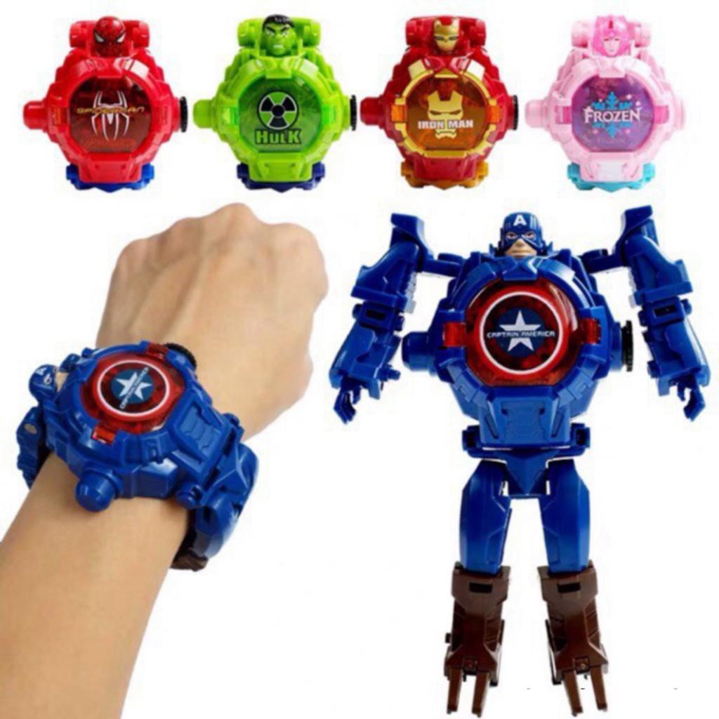 ĐMYTM GJFF [Nhiều mẫu] Đồ chơi đồng hồ lắp ghép biến hình siêu nhân cực đẹp  dành cho bé (dây đeo tay) 25 95