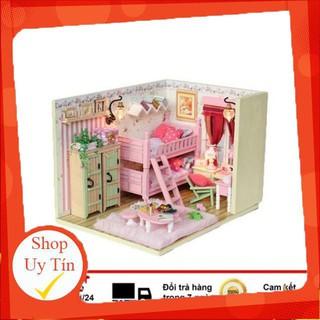 [ HÀNG TỐT ] Mô hình nhà gỗ ghép kute phát triển trí tuệ, sáng tạo cho bé